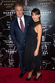 Actor Alec Baldwin and Hilaria Baldwin attend the 2016 Fragrance Foundation Awards at Alice Tully Hall at Lincoln Center on June 7 2016 in New York...