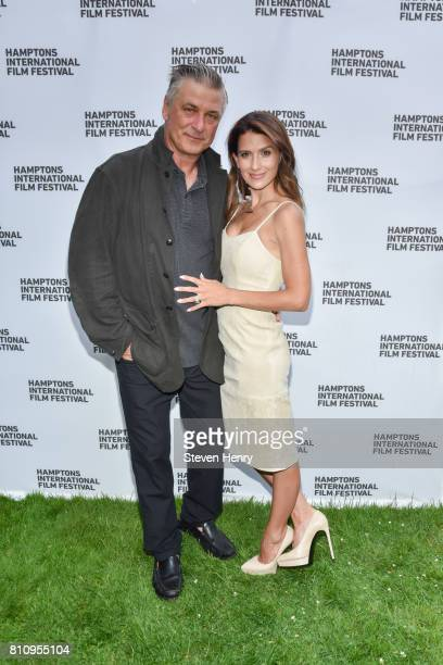 Actor Alec Baldwin and Hilaria Baldwin attend The Hamptons International Film Festival SummerDocs Series Screening of NOBODY SPEAK TRIALS OF THE FREE...