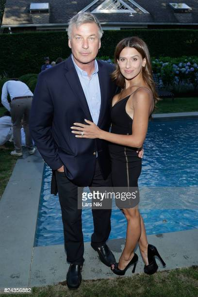 Actor Alec Baldwin and Hilaria Baldwin attend The Hamptons International Film Festival SummerDocs series screening of Trophy on July 29 2017 in East...