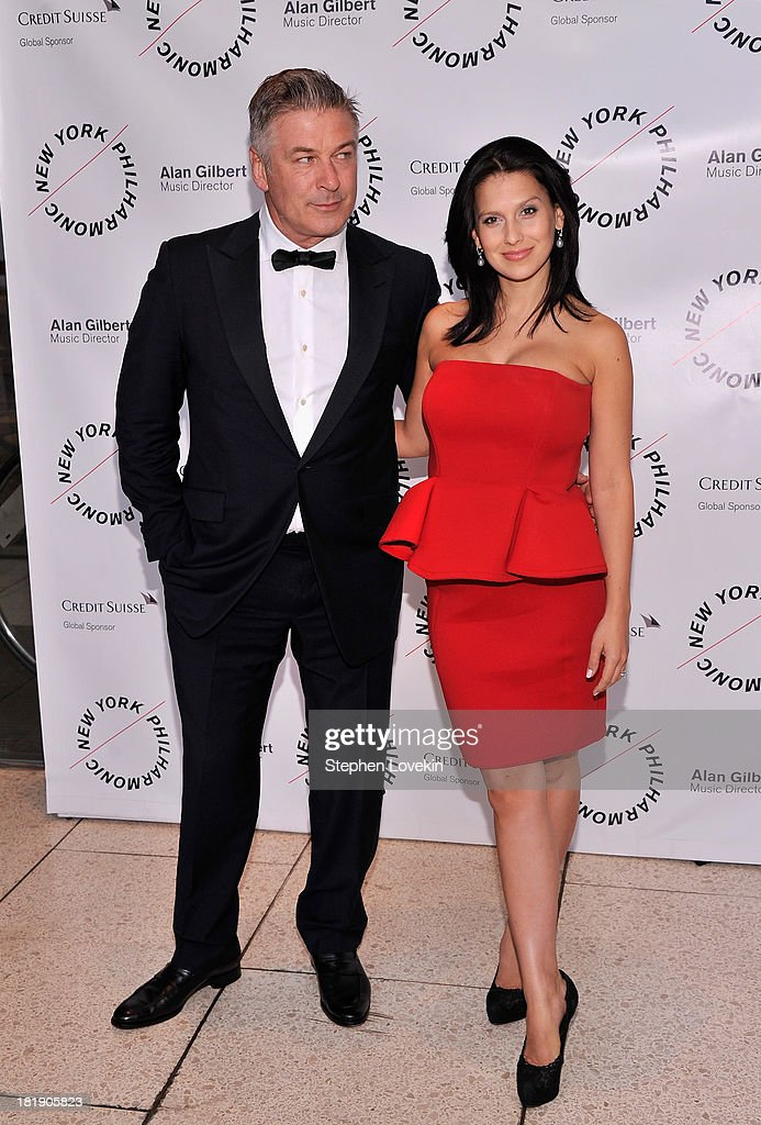 Actor Alec Baldwin and Hilaria Baldwin attend The New York Philharmonic 172nd Season Opening Night Gala at Avery Fisher Hall, Lincoln Center on September 25, 2013 in New York City.