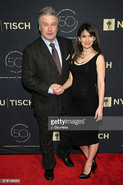 Actor Alec Baldwin and Hilaria Baldwin attend the NYU Tisch School of the Arts 50th Anniversary Gala at Frederick P Rose Hall Jazz at Lincoln Center...