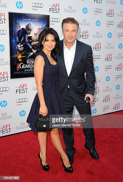 Actor Alec Baldwin and Hilaria Thomas arrive at the premiere of 'Rise of the Guardians' during the 2012 AFI Fest presented by Audi at Grauman's...
