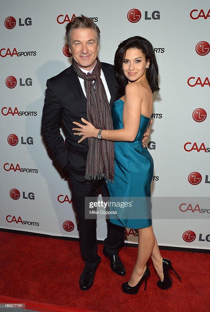 Actor <a gi-track='captionPersonalityLinkClicked' href=/galleries/search?phrase=Alec+Baldwin&family=editorial&specificpeople=202864 ng-click='$event.stopPropagation()'>Alec Baldwin</a> and Hilaria Thomas attend CAA Sports Super Bowl Party presented By LG at Contemporary Arts Center on February 2, 2013 in New Orleans, Louisiana.