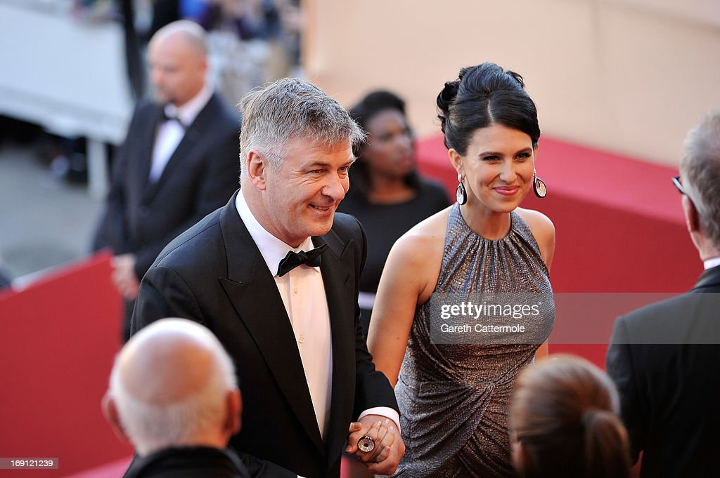Actor <a gi-track='captionPersonalityLinkClicked' href=/galleries/search?phrase=Alec+Baldwin&family=editorial&specificpeople=202864 ng-click='$event.stopPropagation()'>Alec Baldwin</a> (L) and Hilaria Thomas attend the 'Blood Ties' Premiere during the 66th Annual Cannes Film Festival at Grand Theatre Lumiere on May 20, 2013 in Cannes, France.