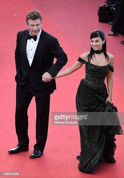 Actor Alec Baldwin and Hilaria Thomas attend the 'Killing Them Softly' Premiere during 65th Annual Cannes Film Festival at Palais des Festivals on...