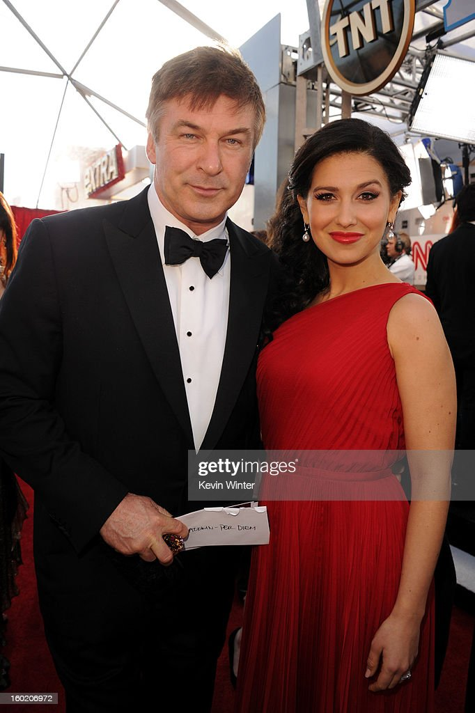 Actor Alec Baldwin and Hilaria Thomas Baldwin attends the 19th Annual Screen Actors Guild Awards at The Shrine Auditorium on January 27, 2013 in Los Angeles, California. (Photo by Kevin Winter/WireImage) 23116_017_0255.JPG