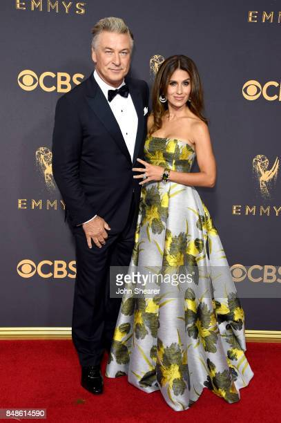 Actor Alec Baldwin and TV personality Hilaria Baldwin attend the 69th Annual Primetime Emmy Awards at Microsoft Theater on September 17 2017 in Los...