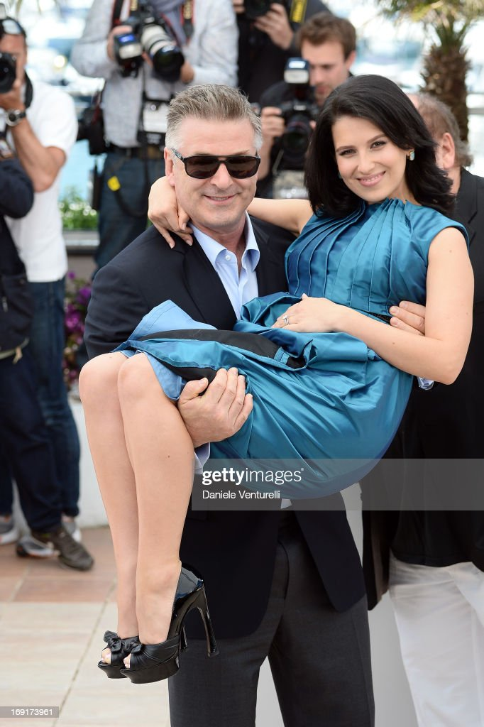 Actor <a gi-track='captionPersonalityLinkClicked' href=/galleries/search?phrase=Alec+Baldwin&family=editorial&specificpeople=202864 ng-click='$event.stopPropagation()'>Alec Baldwin</a> and wife Hilaria attend the photocall for 'Seduced and Abandoned' during The 66th Annual Cannes Film Festival at Palais des Festivals on May 21, 2013 in Cannes, France.