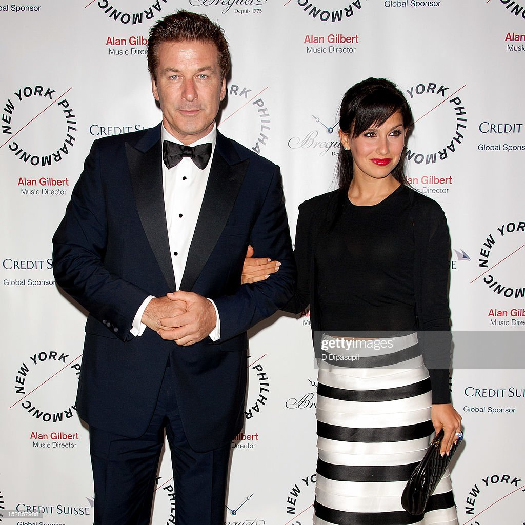 Actor <a gi-track='captionPersonalityLinkClicked' href=/galleries/search?phrase=Alec+Baldwin&family=editorial&specificpeople=202864 ng-click='$event.stopPropagation()'>Alec Baldwin</a> (L) and wife <a gi-track='captionPersonalityLinkClicked' href=/galleries/search?phrase=Hilaria+Thomas&family=editorial&specificpeople=7856471 ng-click='$event.stopPropagation()'>Hilaria Thomas</a> attend the New York Philharmonic 171st season opening gala at Avery Fisher Hall at Lincoln Center for the Performing Arts on September 27, 2012 in New York City.