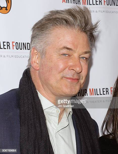 Actor Alec Baldwin attends the Arthur Miller One Night 100 Years Benefit at Lyceum Theatre on January 25 2016 in New York City