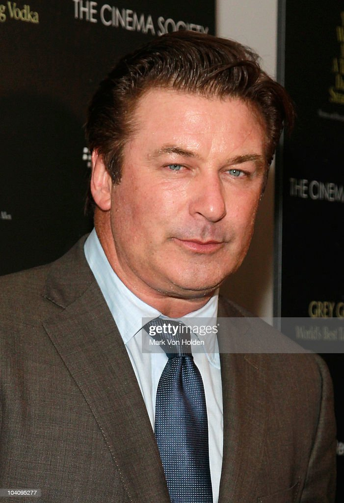 Actor Alec Baldwin attends the Cinema Society and BlackBerry Torch screening of 'You Will Meet a Tall Dark Stranger' at MOMA on September 14 2010 in...
