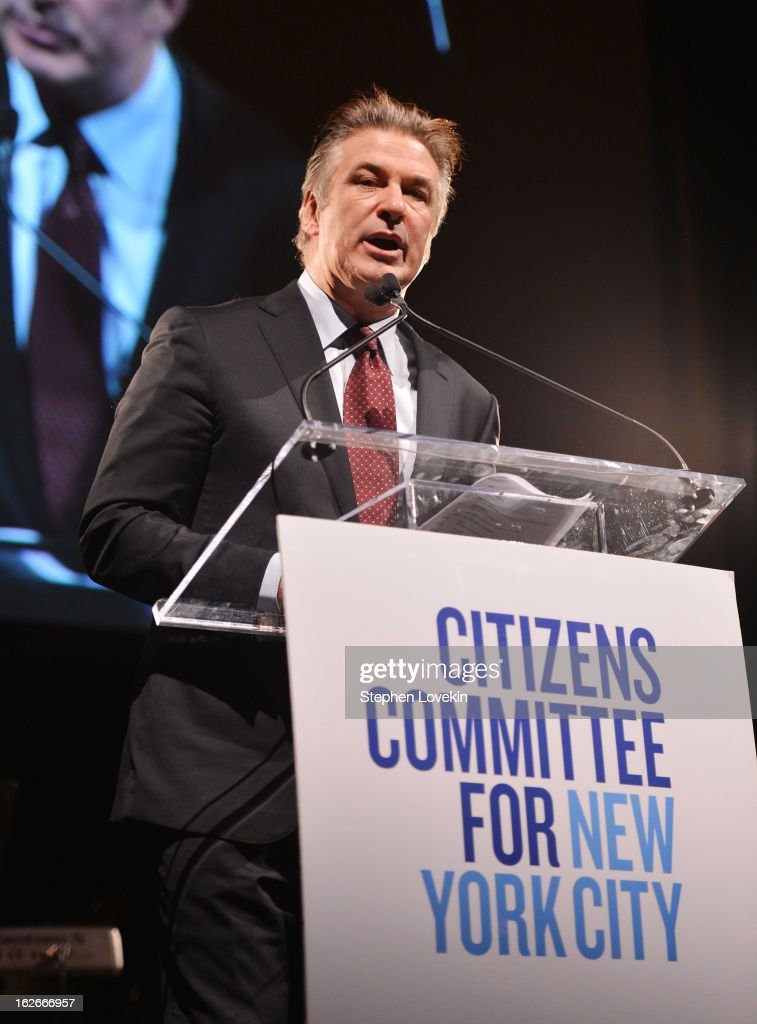 Actor Alec Baldwin attends the New Yorker For New York Gala at Gotham Hall on February 25, 2013 in New York City.