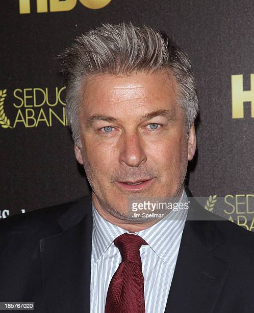 Actor Alec Baldwin attends the 'Seduced And Abandoned' New York premiere at Time Warner Center on October 24 2013 in New York City