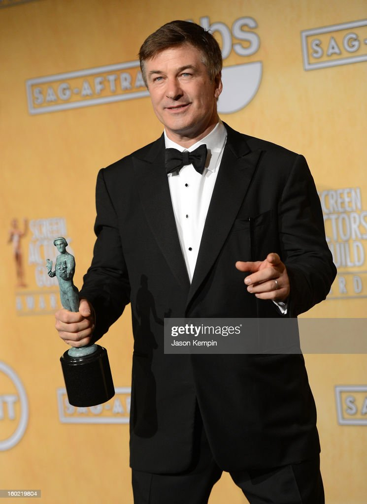 Actor Alec Baldwin attends the19th Annual Screen Actors Guild Awards Press Room at The Shrine Auditorium on January 27, 2013 in Los Angeles, California.