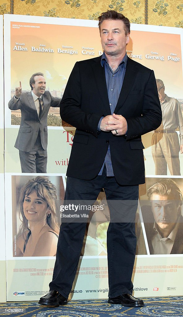 Actor <a gi-track='captionPersonalityLinkClicked' href=/galleries/search?phrase=Alec+Baldwin&family=editorial&specificpeople=202864 ng-click='$event.stopPropagation()'>Alec Baldwin</a> attends 'To Rome With Love' photocall at Hotel Parco dei Principi on April 13, 2012 in Rome, Italy.
