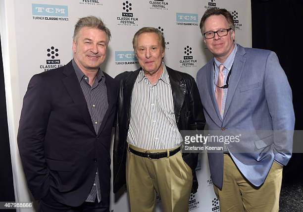 Actor Alec Baldwin director William Friedkin and Vice President of Studio Production at TCM Sean Cameron attend the screening of 'The French...