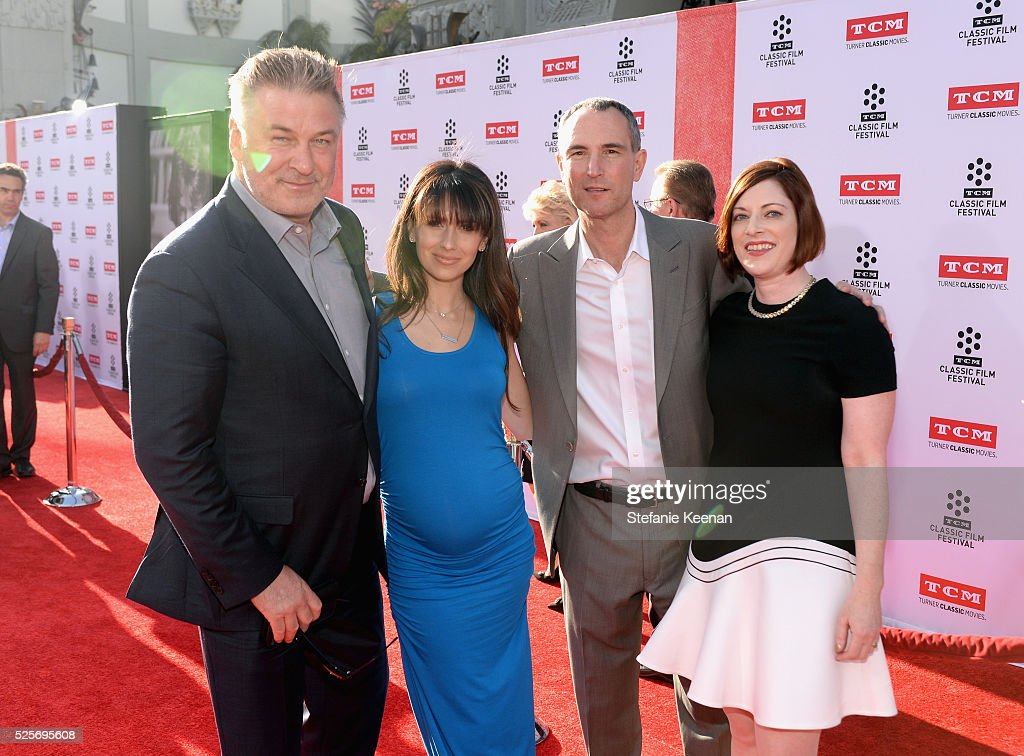 Actor <a gi-track='captionPersonalityLinkClicked' href=/galleries/search?phrase=Alec+Baldwin&family=editorial&specificpeople=202864 ng-click='$event.stopPropagation()'>Alec Baldwin</a>, <a gi-track='captionPersonalityLinkClicked' href=/galleries/search?phrase=Hilaria+Thomas&family=editorial&specificpeople=7856471 ng-click='$event.stopPropagation()'>Hilaria Thomas</a>, SVP of Programming at TCM Charles Tabesh, and TCM Classic Film Festival Director Genevieve McGillicuddy attend 'All The President's Premiere' during the TCM Classic Film Festival 2016 Opening Night on April 28, 2016 in Los Angeles, California. 25826_005