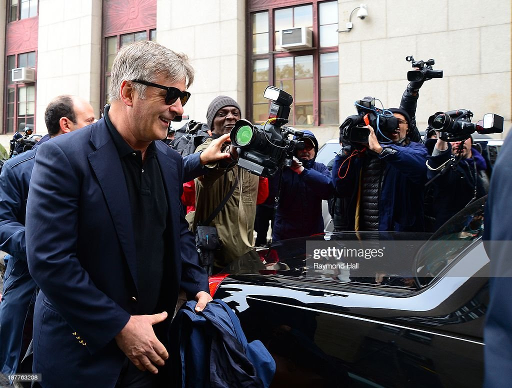 Actor <a gi-track='captionPersonalityLinkClicked' href=/galleries/search?phrase=Alec+Baldwin&family=editorial&specificpeople=202864 ng-click='$event.stopPropagation()'>Alec Baldwin</a> is seen at Manhattan Criminal Court on November 12, 2013 in New York City. Baldwin is testifying against an alleged stalker, Genevieve Sabourin, who was arrested outside his apartment building in 2012 and claims to be romantically involved with him.