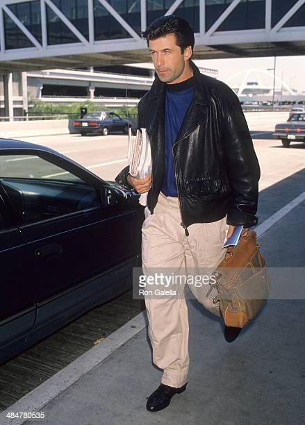 Actor Alec Baldwin on May 22 1990 at the Los Angeles International Airport in Los Angeles California