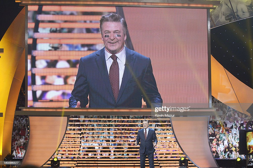 Actor Alec Baldwin speaks onstage at the 2nd Annual NFL Honors at the Mahalia Jackson Theater on February 2, 2013 in New Orleans, Louisiana.