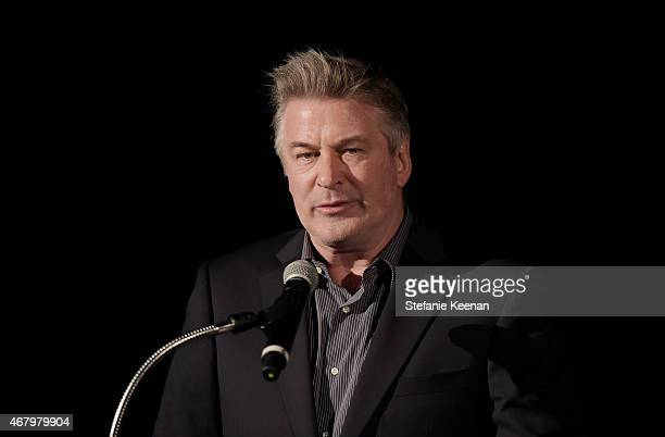Actor Alec Baldwin speaks onstage before a screening of 'French Connection' during day three of the 2015 TCM Classic Film Festival on March 28 2015...
