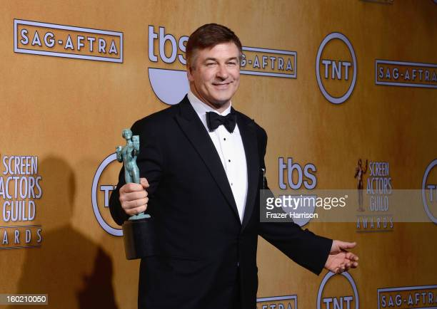 Actor Alec Baldwin winner of Outstanding Performance by a Male Actor in a Comedy Series for '30 Rock' poses in the press room during the 19th Annual...