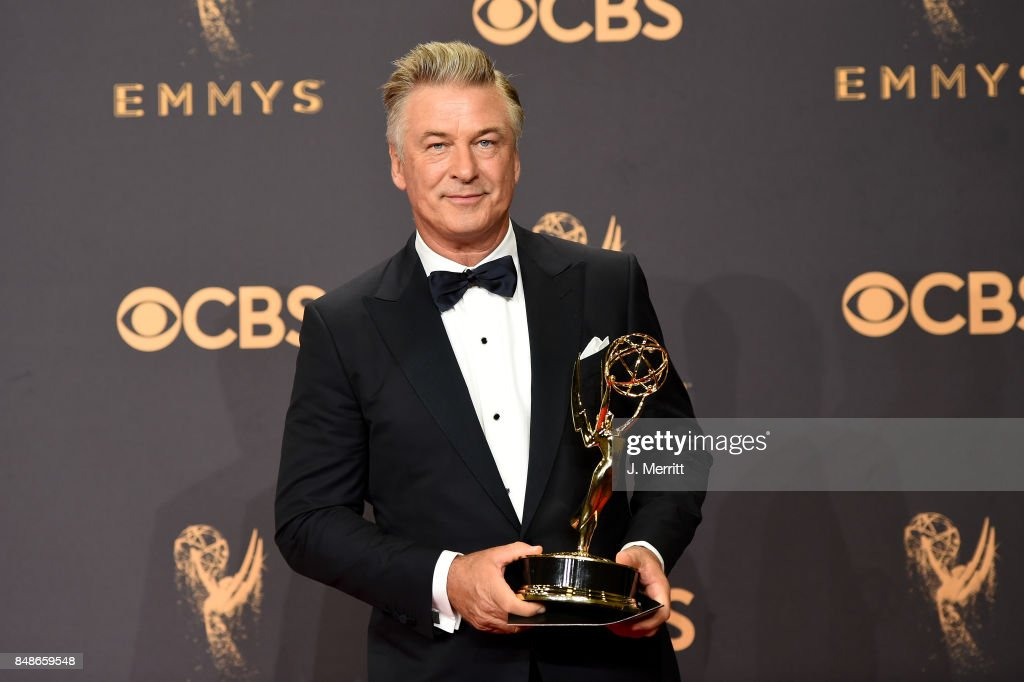 Actor Alec Baldwin, winner of Outstanding Supporting Actor in a Comedy Series for 'Saturday Night Live', poses in the press room during the 69th Annual Primetime Emmy Awards at Microsoft Theater on September 17, 2017 in Los Angeles, California.