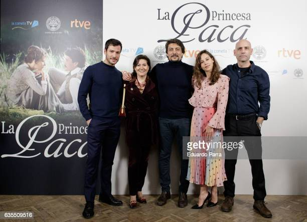 Actor Alejandro Albarracin actress Luisa Martin actor Daniel Holguin actress Irene Escolar and director Joaquin Llamas attend the 'La Princesa Paca'...