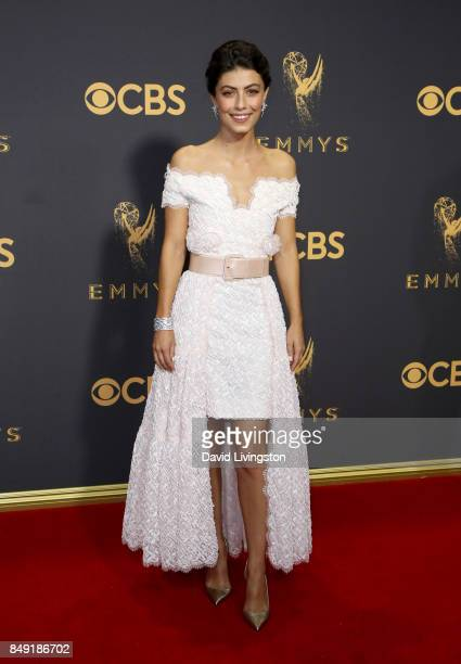 Actor Alessandra Mastronardi attends the 69th Annual Primetime Emmy Awards Arrivals at Microsoft Theater on September 17 2017 in Los Angeles...