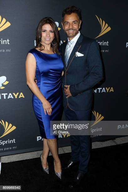 Actor Alessandra Rosaldo and husband actor/comedian Eugenio Derbez attend PANTAYA Launch Party at Boulevard3 on October 10 2017 in Hollywood...