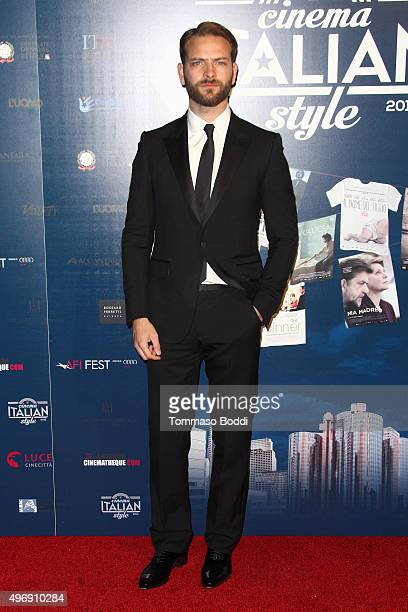 Actor Alessandro Borghi attends the 11th Cinema Italian Style opening night screening of 'Don't Be Bad' held at the Egyptian Theatre on November 12...