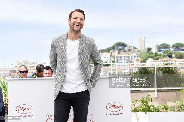 Actor Alessandro Borghi attends the 'Fortunata' photocall during the 70th annual Cannes Film Festival at Palais des Festivals on May 21 2017 in...