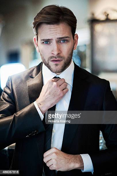 Actor Alessandro Borghi is photographed for Self Assignment on October 05 2014 in Rome Italy