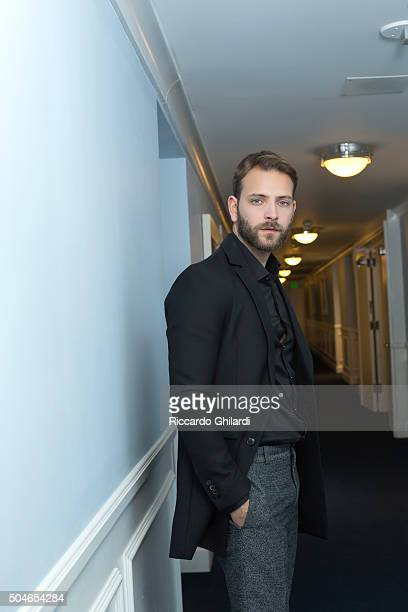 Actor Alessandro Borghi is photographed for Self Assignment on November 11 2015 in Los Angeles United States