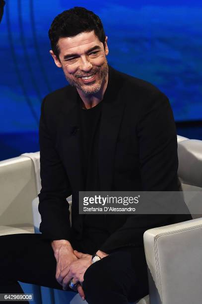 Actor Alessandro Gassmann attends 'Che Tempo Che Fa' tv show on February 19 2017 in Milan Italy