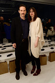 Actor Alessandro Nivola and actress Emily Mortimer attend the Zero Maria Cornejo fashion show during MercedesBenz Fashion Week Fall 2015 at...