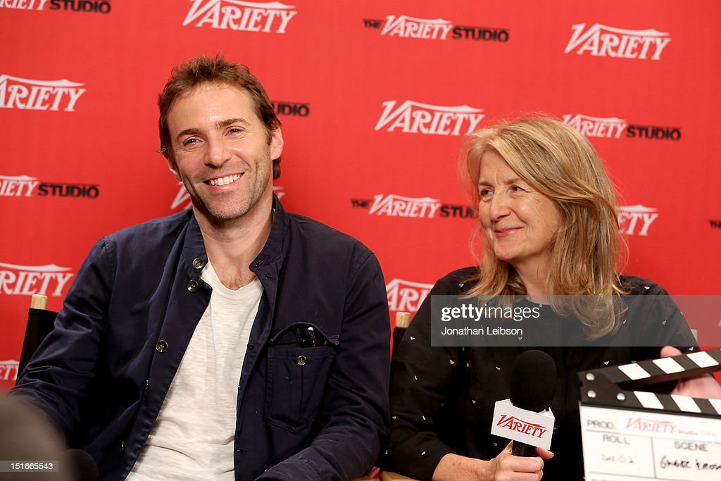 Actor Alessandro Nivola (L) and director Sally Potter attend Variety Studio presented by Moroccanoil at Holt Renfrew on Day 2 at Holt Renfrew, Toronto during the 2012 Toronto International Film Festival on September 9, 2012 in Toronto, Canada.