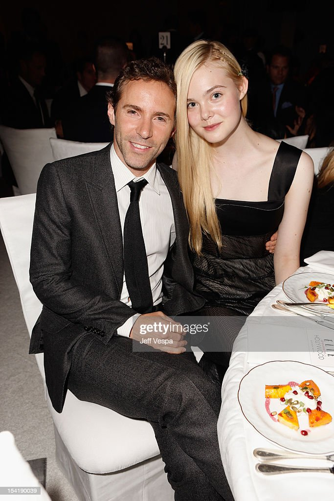 Actor Alessandro Nivola and honoree Elle Fanning attend ELLE's 19th Annual Women In Hollywood Celebration at the Four Seasons Hotel on October 15, 2012 in Beverly Hills, California.