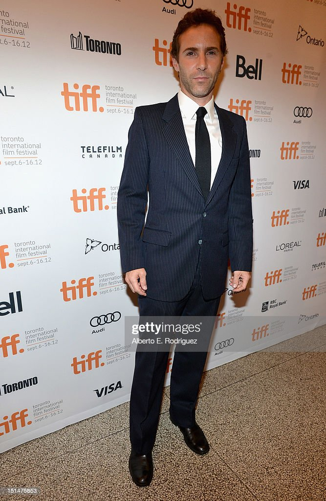 Actor Alessandro Nivola attends the 'Ginger & Rosa' premiere during the 2012 Toronto International Film Festival at the The Elgin on September 7, 2012 in Toronto, Canada.