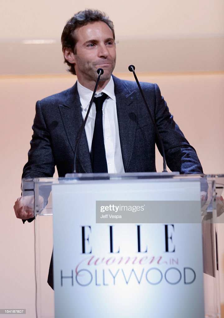 Actor Alessandro Nivola speaks onstage at ELLE's 19th Annual Women In Hollywood Celebration at the Four Seasons Hotel on October 15, 2012 in Beverly Hills, California.