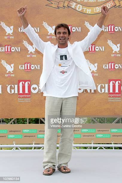 Actor Alessandro Preziosi attends a photocall during Giffoni Experience 2010 on July 18 2010 in Giffoni Valle Piana Italy