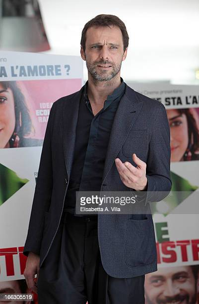 Actor Alessandro Preziosi attends 'Passione Sinistra' photocall at Cinema Adriano on April 11 2013 in Rome Italy