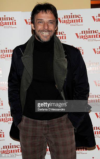 Actor Alessandro Preziosi attends the 'Mine Vaganti' Milan Premiere held at Cinema Anteo on March 2 2010 in Milan Italy