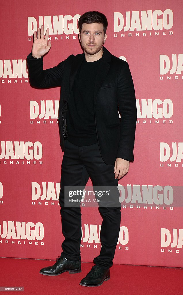 Actor Alessandro Roja attends 'Django Unchained' premiere at Cinema Adriano on January 4, 2013 in Rome, Italy.