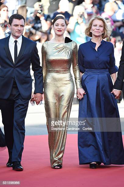 Actor Alex Brendemuhl actress Marion Cotillard and director Nicole Garcia attend the 'From The Land Of The Moon ' premiere during the 69th annual...