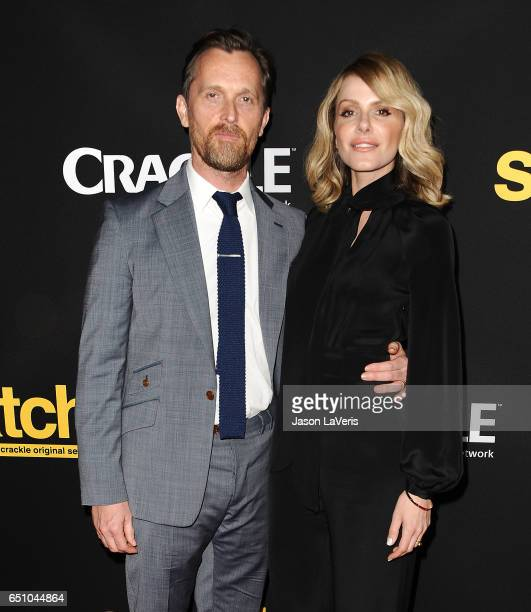 Actor Alex De Rakoff and actress Monet Mazur attend the premiere of 'Snatch' at Arclight Cinemas Culver City on March 9 2017 in Culver City California