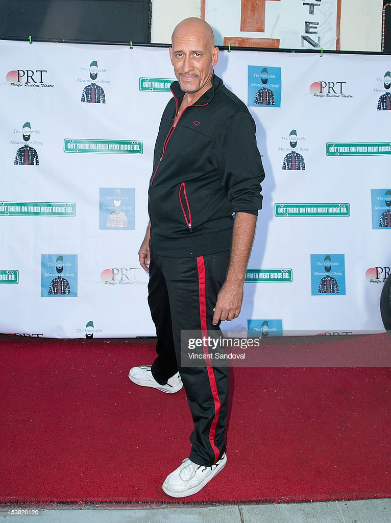 Actor Alex Fernandez attends the premiere of 'Fried Meat 3: The Unfryable Meatness of Being' at Pacific Resident Theatre on August 18, 2014 in Venice, California.