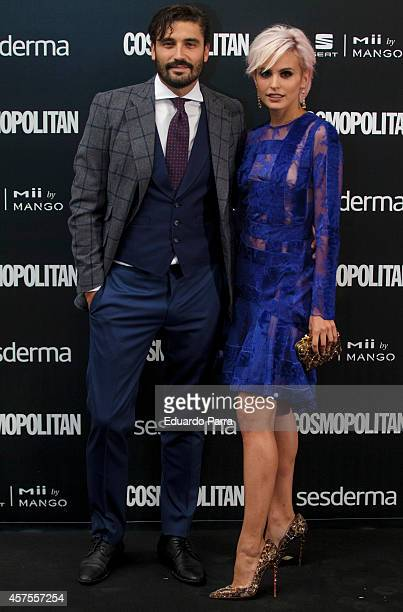 Actor Alex Garcia and actress Veronica Echegui attend Cosmopolitan Fun Fearless Awards 2014 photocall at Ritz hotel on October 20 2014 in Madrid Spain