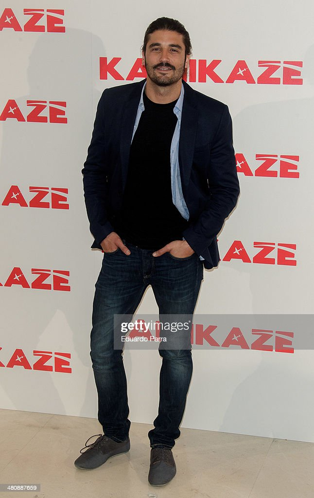 Actor Alex Garcia attends 'Kamikaze' photocall at Hesperia hotel on March 27, 2014 in Madrid, Spain.