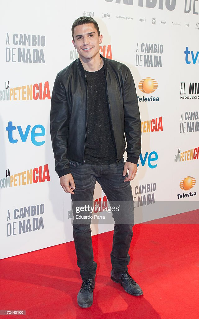 Actor Alex Gonzalez attends 'A cambio de nada' premiere at Capitol cinema on May 7, 2015 in Madrid, Spain.